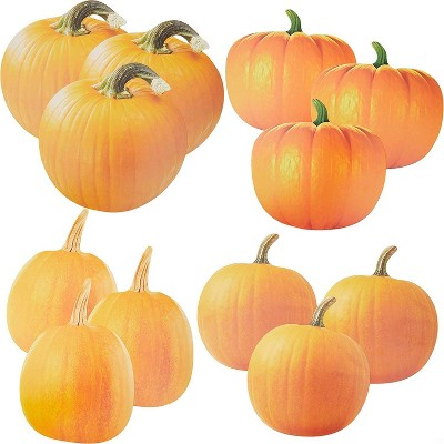Bright Creations 12 Pack Large Pumpkin Paper Cutouts Die Cuts for Crafts Decor, 4 Realistic Designs
