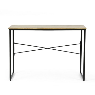 Esom Modern Industrial Handcrafted Mango Wood Desk Natural/Black - Christopher Knight Home
