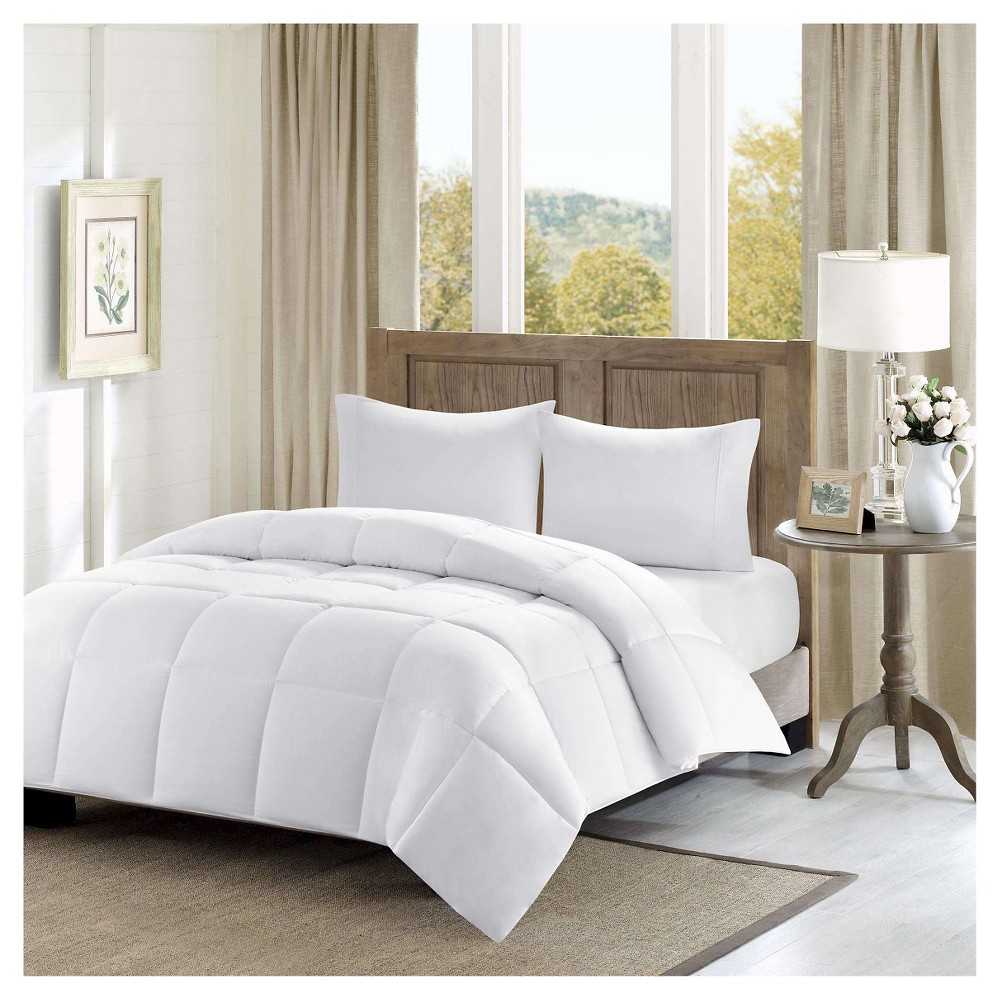 Image of Westport Percale Luxury Down Alternative Comforter (King/Cal King) White 300 Thread Count Cotton