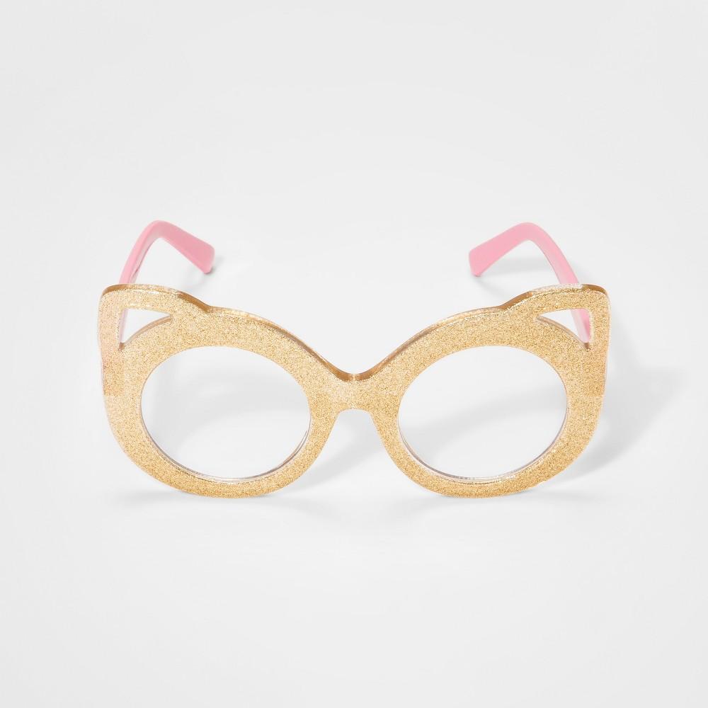 Image of Girls' Cat Reading Glasses - Cat & Jack Pink, Gold