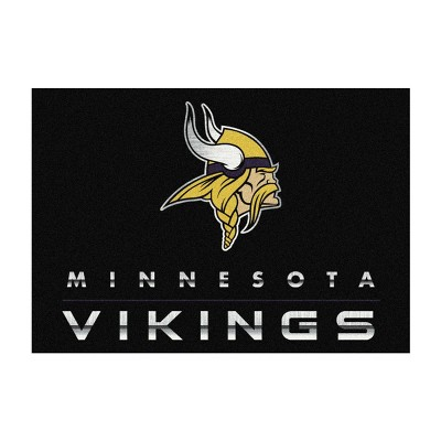 NFL Minnesota Vikings 4'x6' Chrome Rug