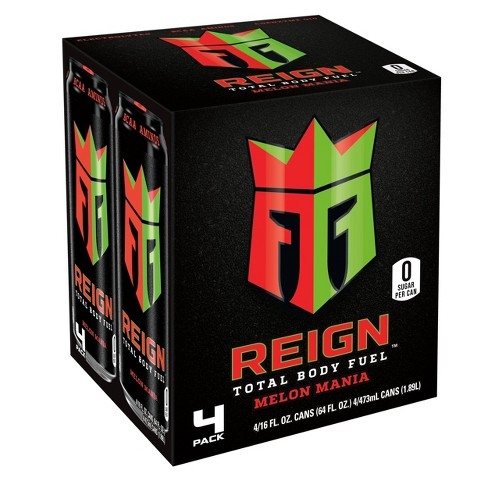 Reign Melon Mania Energy Drink - 4pk/16 fl oz Cans - image 1 of 2