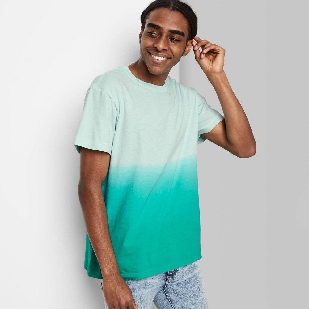 Men 39 S Tie Dye Regular Fit Short Sleeve Crewneck T Shirt Original Use 8482 Sea Green 2xl
