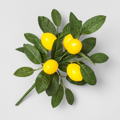 14  x 7  Artificial Lemon Bunch Arrangement Yellow/Green - Opalhouse™