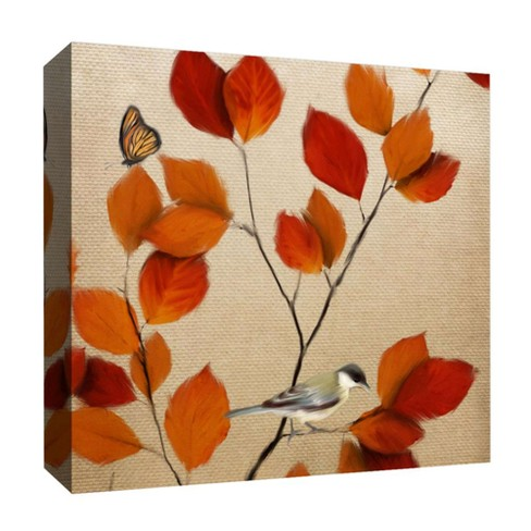 "Des Feuilles II Decorative Canvas Wall Art 16""x16"" - PTM Images - image 1 of 1"