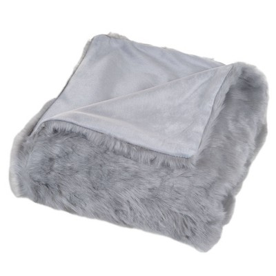 """60""""x50"""" Luxury Long Haired Faux Fur Throw Blanket - Yorkshire Home"""