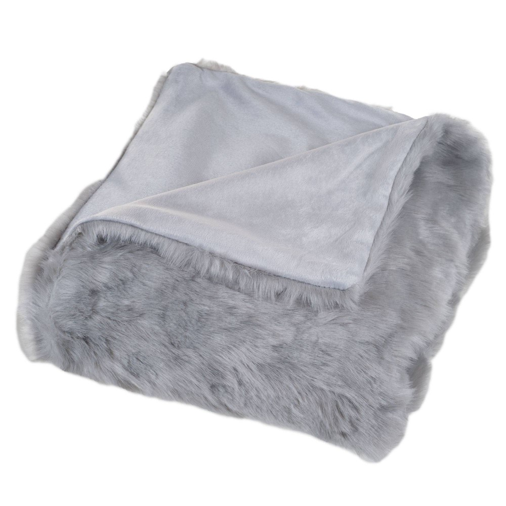"""Compare 60""""x50"""" Luxury Long Haired Faux Fur Throw Blanket  - Yorkshire Home"""