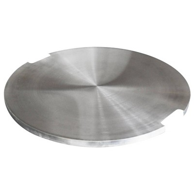 Lunar Round Stainless Steel Lid for Outdoor Fire Pit Table - Elementi