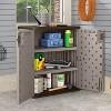 Suncast 9 Cu Ft Heavy Duty Resin Garage Base Storage Cabinet, Platinum (6 Pack) - image 3 of 4