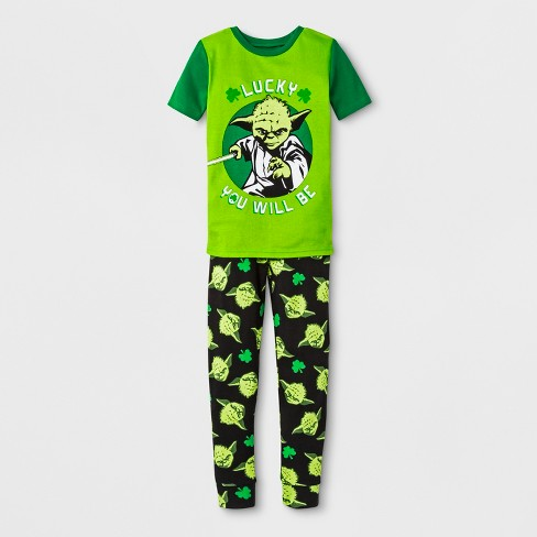 Boys' Star Wars 2pc Pajama Set - Green - image 1 of 1