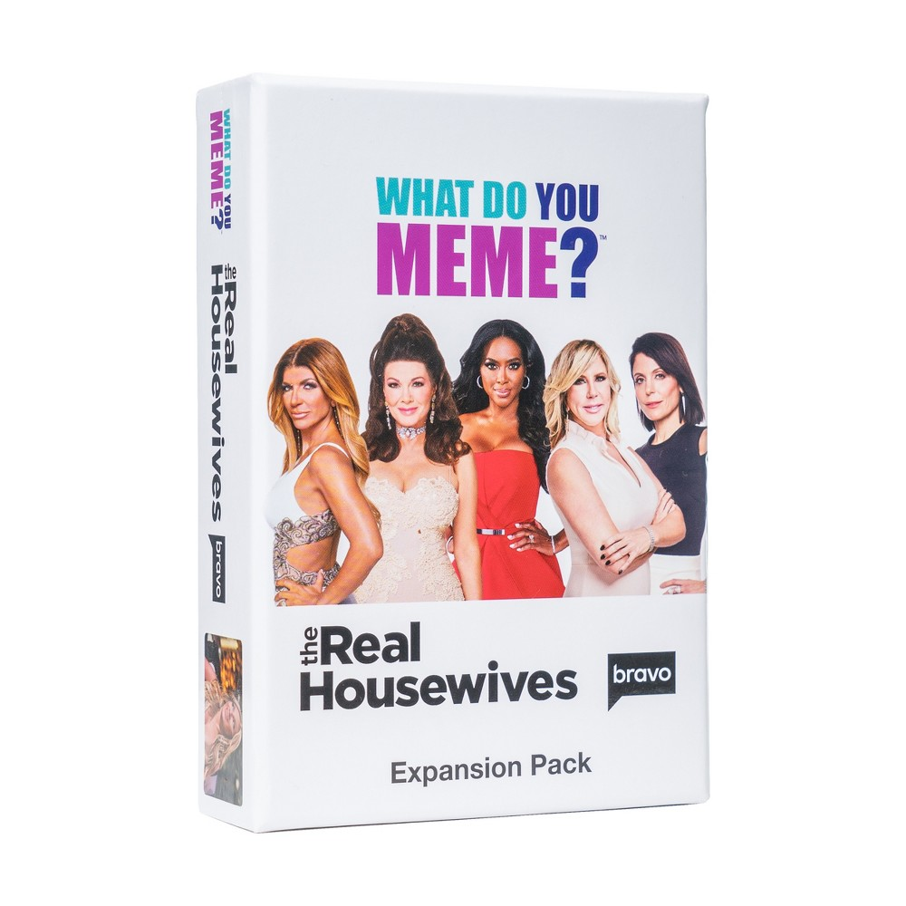 What Do You Meme? Game Real Housewives Expansion Pack Bravo's Real Housewives Expansion Pack! Our most Omg-filled expansion pack yet Your chance to meme Ramona, Teresa, Nene and many of your favorite Housewives 75 Photo Cards and 30 Caption Cards to add to the core game. *Requires What Do You Meme? core game to play Gender: Unisex.