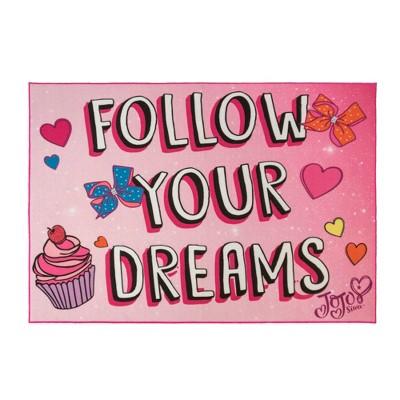 Nickelodeon JoJo Siwa 5'x7' Follow Your Dreams Rug