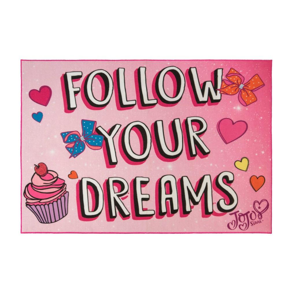 Image of JoJo Siwa 5'x7' Follow Your Dreams Rug, Multi-Colored
