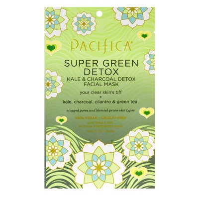 Pacifica Super Green Detox Kale and Charcoal Face Mask - 0.67 fl oz