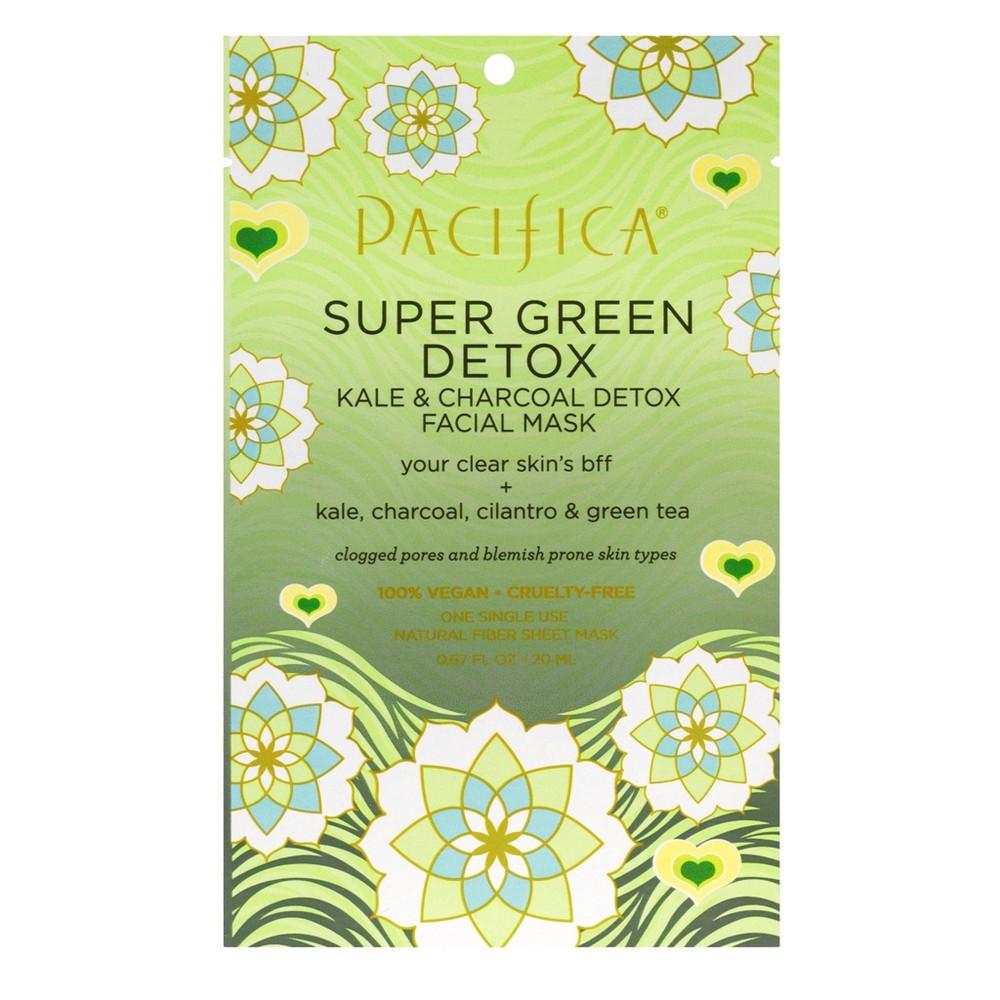 Pacifica Super Green Detox Kale and Charcoal Facial Mask 0.67 fl oz