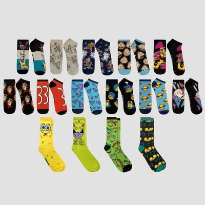 mens-nickelodeon-15-days-of-socks-in-a-box-socks---colors-may-vary-6-12 by nickelodeon