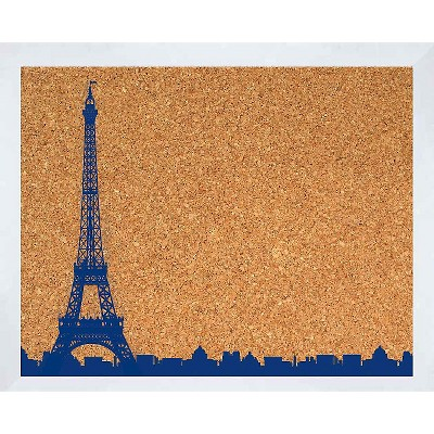 "22"" x 18"" Eiffel Tower Skyline Memoboard - PTM Images"