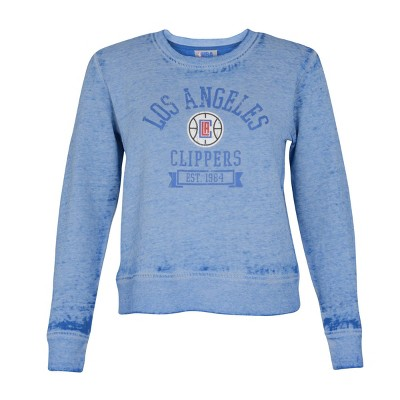 NBA Los Angeles Clippers Women's Retro Sport Burnout Crew Neck Sweatshirt - M