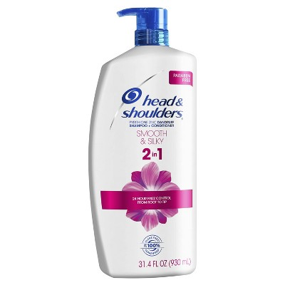 Head and Shoulders Smooth & Silky Paraben Free 2in1 Dandruff Shampoo and Conditioner - 31.4 fl oz