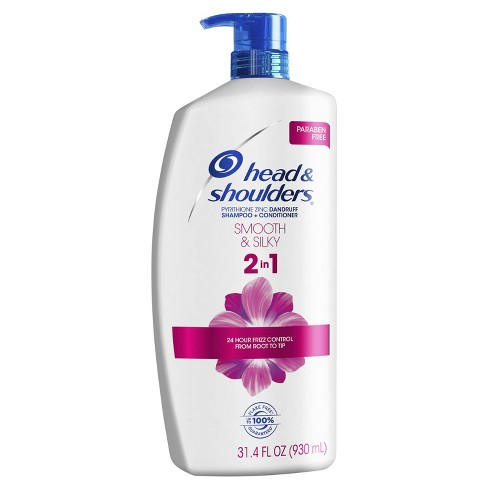 Head and Shoulders Smooth & Silky Paraben Free 2in1 Dandruff Shampoo and Conditioner - 31.4 fl oz - image 1 of 4