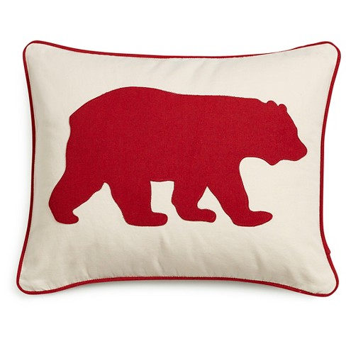 "Red Bear Throw Pillow (16""x20"") - Eddie Bauer® - image 1 of 2"