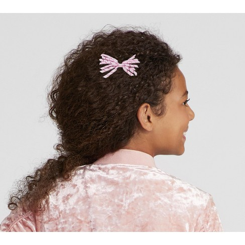 1daecb66c231 Girls' Curly Ribbon Bow Clip - Cat & Jack™ Purple. Shop all Cat & Jack