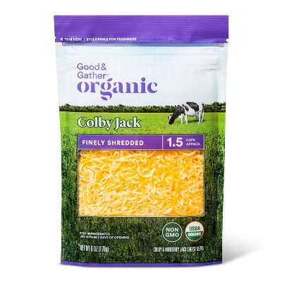 Organic Finely Shredded Colby Jack Cheese - 6oz - Good & Gather™