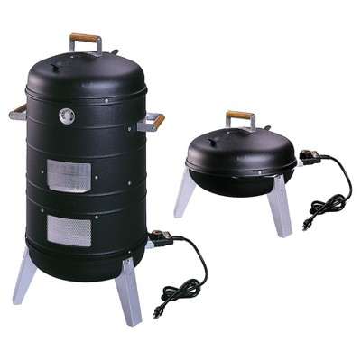 Americana 2-in-1 Electric Combo Water Smoker - Converts into a Lock 'N Go Grill Model 5030U4.181 - Meco