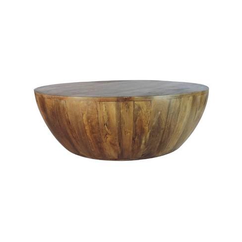 premium selection 62740 07e32 Mango Wood Coffee Table Antique Brown - The Urban Port