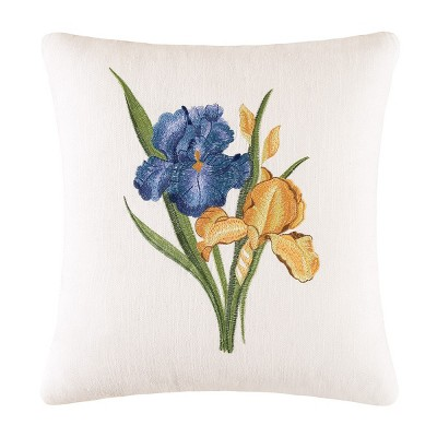 C&F Home Iris Embroidered Pillow