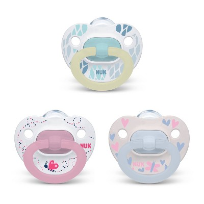 NUK Pacifier Assorted Size 0-6 months Value Pack - Girl - 3pk