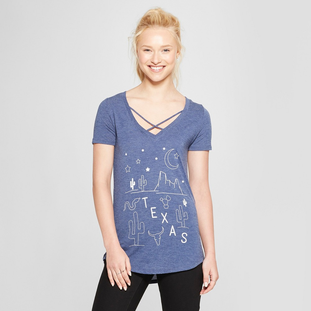 Women's Short Sleeve Desert Nights Graphic T-Shirt - Awake Navy M, Blue