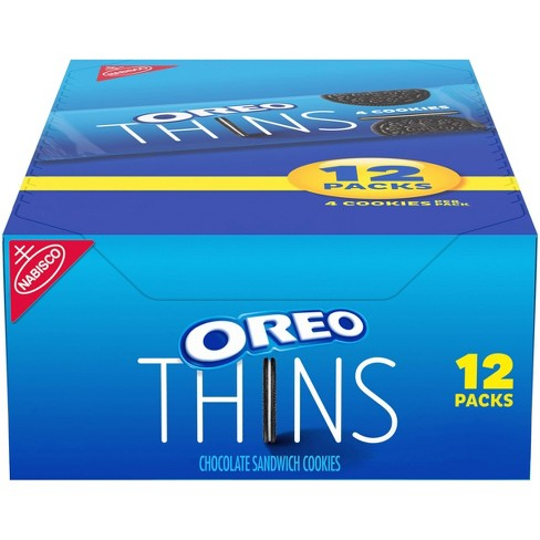 Oreo Thins Chocolate Sandwich Cookies - 12.24oz/12ct - image 1 of 4
