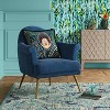 Myna Tufted Arm Chair with Brass Legs - Opalhouse™ - image 2 of 4