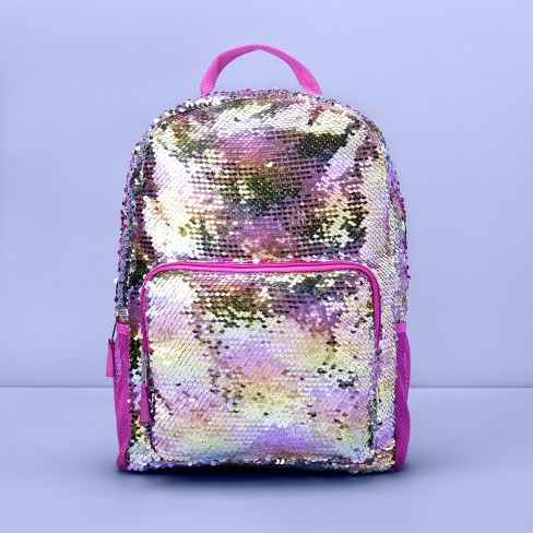Girls' Flip Sequin Backpack - More Than Magic™ Purple - image 1 of 3