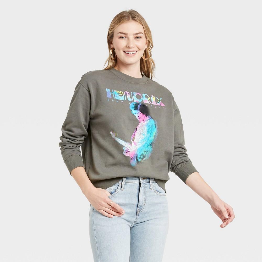 Women 39 S Jimi Hendrix Graphic Sweatshirt Heather Gray Xs