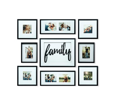 Family Decor Frame 9pc Kit - Gallery Solutions