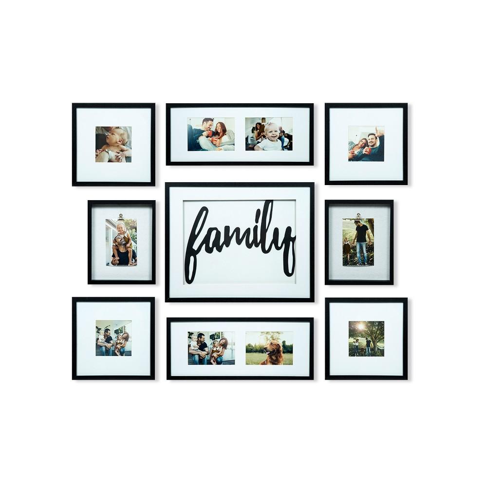 Family Decor Frame 9pc Kit - Gallery Solutions, Black