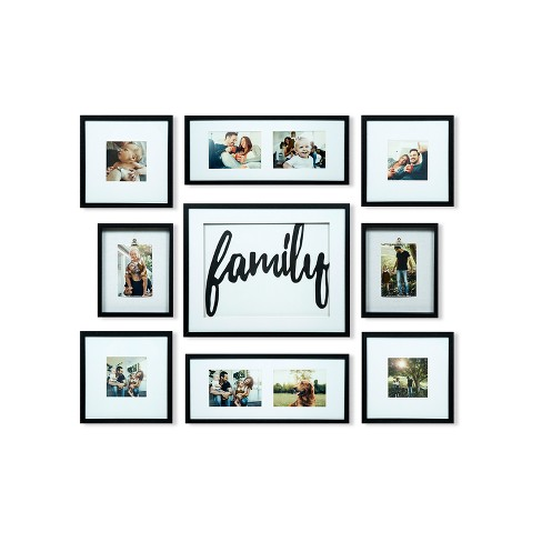 Family Decor Frame 9pc Kit - Gallery Solutions - image 1 of 4