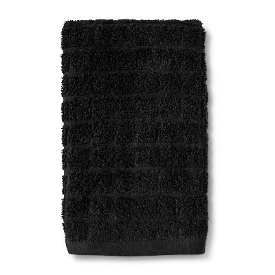 Grid Texture Hand Towel Black - Room Essentials™