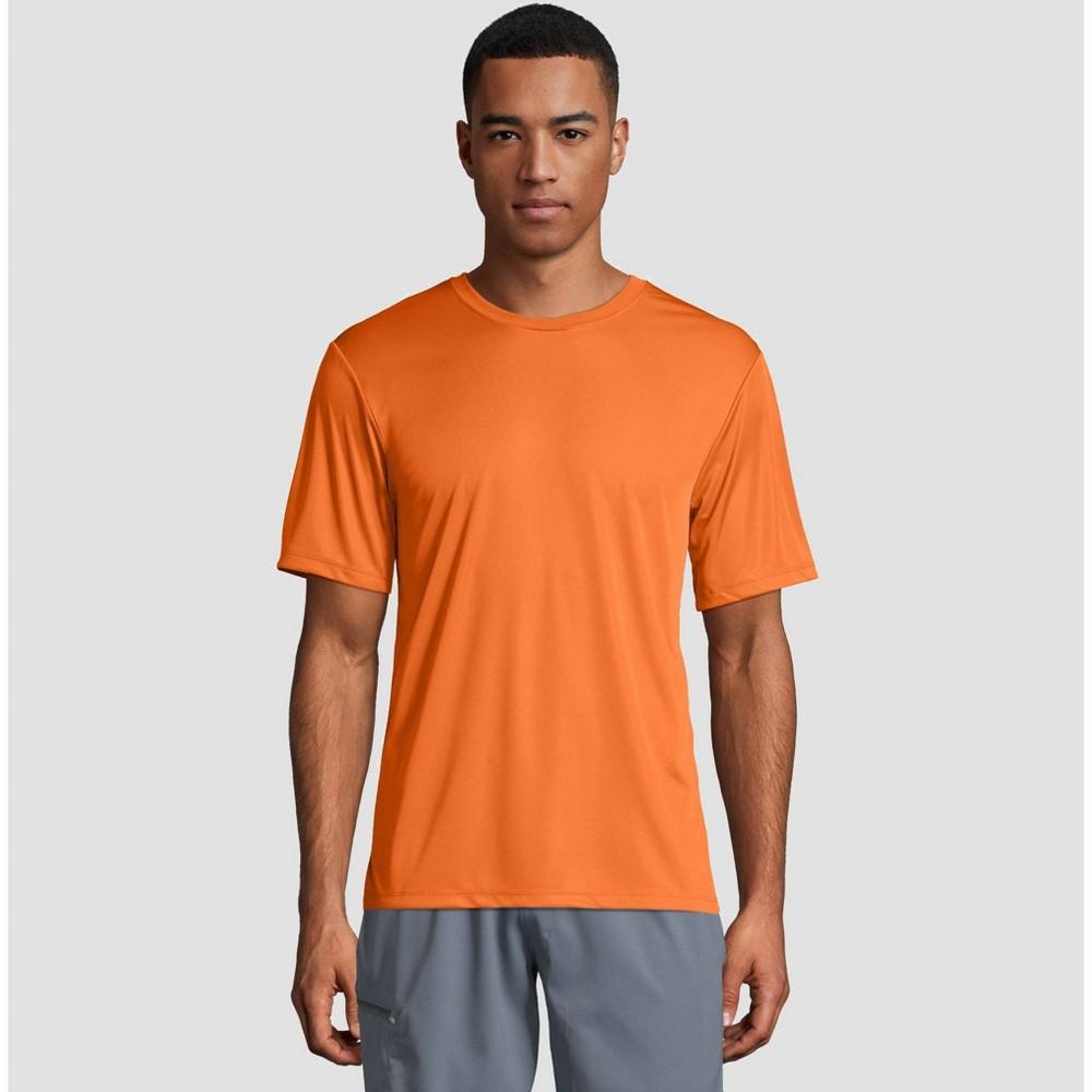 Hanes Men's Short Sleeve CoolDRI Performance T-Shirt -Neon Orange M, Neon Orange