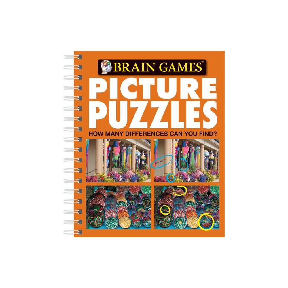 Picture Puzzles Brain Games Unnumbered Spiral Bound