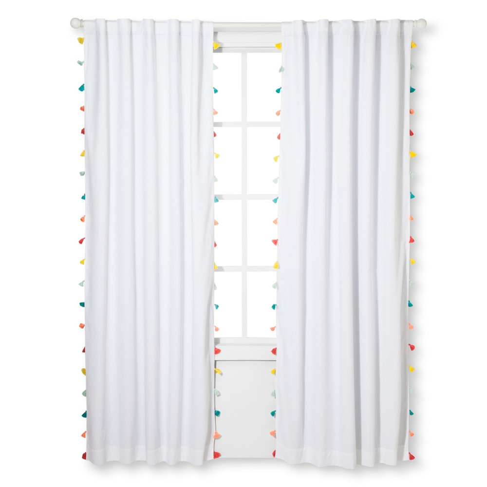 Tassel Blackout Curtain Panel (95