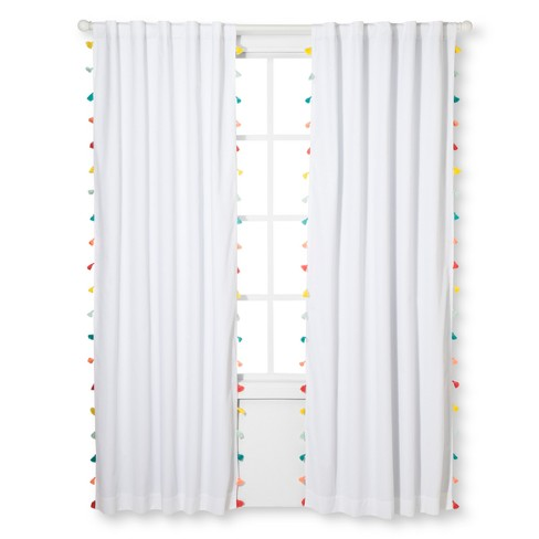 Tassel Blackout Curtain Panel - Pillowfort™ - image 1 of 2