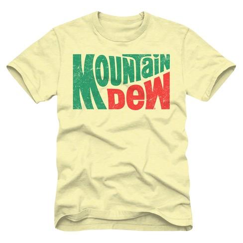 1c7de399d45f7 Men's Mountain Dew Vintage Logo T-Shirt - Yellow L