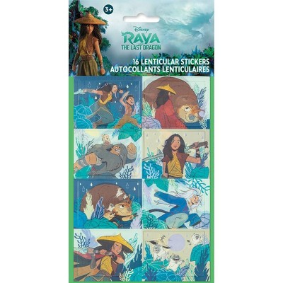 Raya and the Last Dragon 16ct Lenticular Party Favor Stickers
