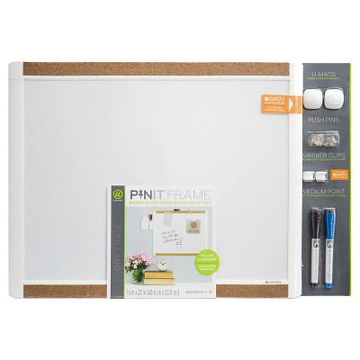 Ubrands Pin it Cork Frame Magnetic Dry Erase Board - 16  x 20