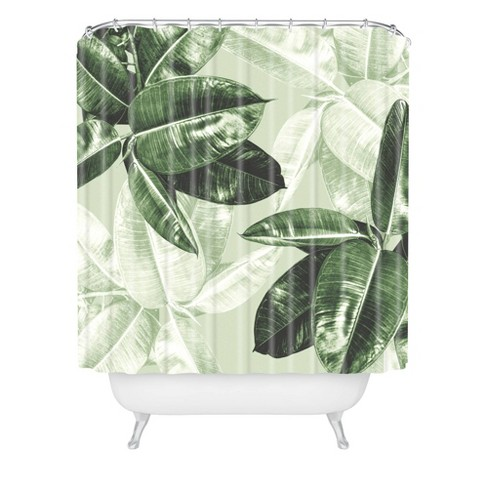 Magda Opoka Green Tropical Leaves Shower Curtain Green Deny Designs Target Laural home tropical palm tree leaves shower curtain. magda opoka green tropical leaves shower curtain green deny designs
