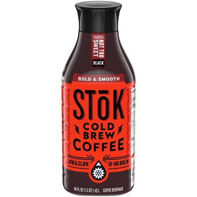 SToK Not Too Sweet Cold Brew Coffee - 48 fl oz Bottle