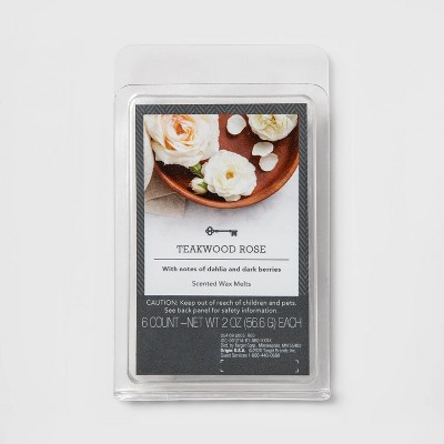 6ct Teakwood Rose Scented Wax Melts - Threshold™